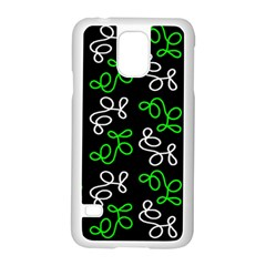 Elegance   Green Samsung Galaxy S5 Case (white) by Valentinaart