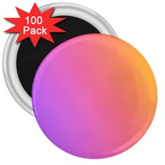 Blank Desk Pink Yellow Purple 3  Magnets (100 Pack)