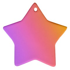 Blank Desk Pink Yellow Purple Star Ornament (two Sides)  by AnjaniArt