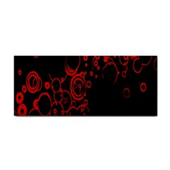 Abstraction Textures Black Red Colors Circles Cosmetic Storage Cases by AnjaniArt
