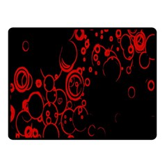 Abstraction Textures Black Red Colors Circles Fleece Blanket (small) by AnjaniArt