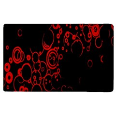 Abstraction Textures Black Red Colors Circles Apple Ipad 2 Flip Case by AnjaniArt
