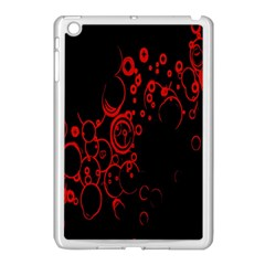 Abstraction Textures Black Red Colors Circles Apple Ipad Mini Case (white)