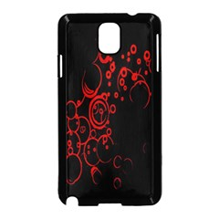 Abstraction Textures Black Red Colors Circles Samsung Galaxy Note 3 Neo Hardshell Case (black) by AnjaniArt