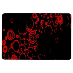 Abstraction Textures Black Red Colors Circles Ipad Air 2 Flip by AnjaniArt