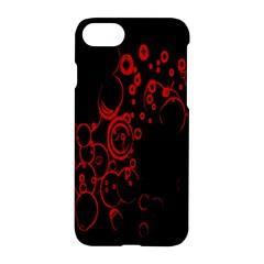 Abstraction Textures Black Red Colors Circles Apple Iphone 7 Hardshell Case