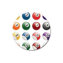 Billiards Magnet 3  (round) by AnjaniArt