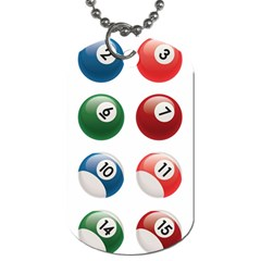 Billiards Dog Tag (two Sides) by AnjaniArt