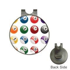 Billiards Hat Clips With Golf Markers by AnjaniArt