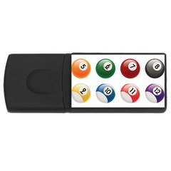 Billiards Usb Flash Drive Rectangular (4 Gb)  by AnjaniArt
