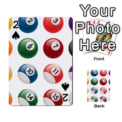 Billiards Playing Cards 54 Designs  by AnjaniArt