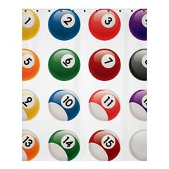 Billiards Shower Curtain 60  X 72  (medium)  by AnjaniArt