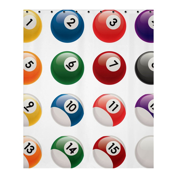 Billiards Shower Curtain 60  x 72  (Medium)