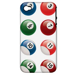 Billiards Apple Iphone 4/4s Hardshell Case (pc+silicone)