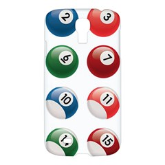 Billiards Samsung Galaxy S4 I9500/i9505 Hardshell Case by AnjaniArt