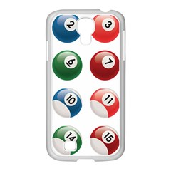 Billiards Samsung Galaxy S4 I9500/ I9505 Case (white) by AnjaniArt