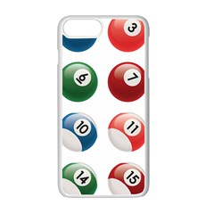 Billiards Apple Iphone 7 Plus White Seamless Case
