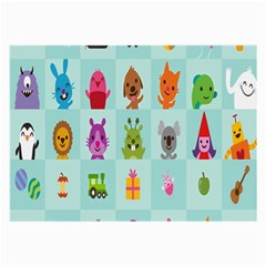 Animals Monster Music Large Glasses Cloth by AnjaniArt