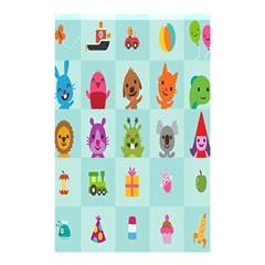 Animals Monster Music Shower Curtain 48  X 72  (small)