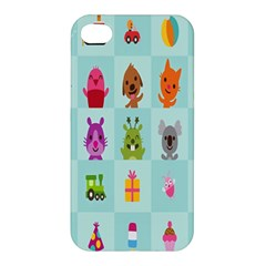 Animals Monster Music Apple Iphone 4/4s Premium Hardshell Case