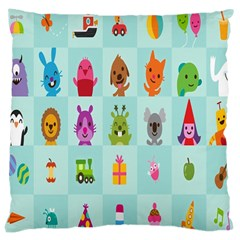 Animals Monster Music Large Cushion Case (one Side)