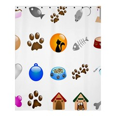 Cat Mouse Dog Shower Curtain 60  X 72  (medium)