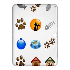 Cat Mouse Dog Samsung Galaxy Tab 4 (10 1 ) Hardshell Case  by AnjaniArt