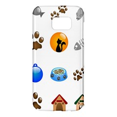 Cat Mouse Dog Samsung Galaxy S7 Edge Hardshell Case