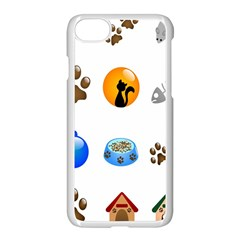 Cat Mouse Dog Apple Iphone 7 Seamless Case (white) by AnjaniArt