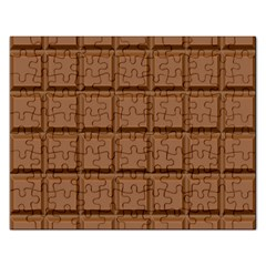 Chocolate Rectangular Jigsaw Puzzl by AnjaniArt