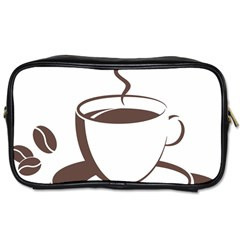 Coffee Beans Toiletries Bags 2 Side by AnjaniArt