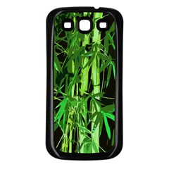 Bamboo Pattern Tree Samsung Galaxy S3 Back Case (black) by AnjaniArt