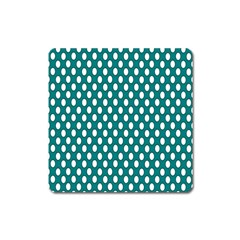 Circular Pattern Blue White Square Magnet by AnjaniArt