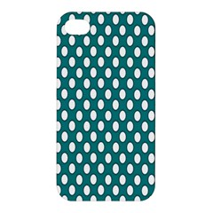 Circular Pattern Blue White Apple Iphone 4/4s Premium Hardshell Case