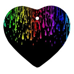 Color Rainbow Heart Ornament (2 Sides) by AnjaniArt