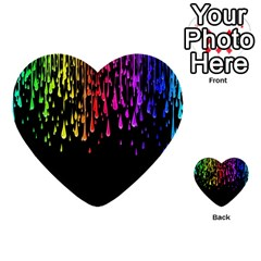 Color Rainbow Multi Purpose Cards (heart)  by AnjaniArt