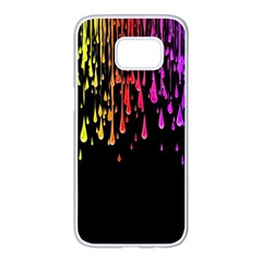 Color Rainbow Samsung Galaxy S7 Edge White Seamless Case