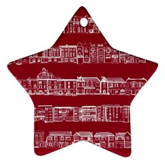 City Building Red Ornament (star)