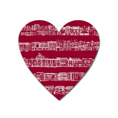 City Building Red Heart Magnet by AnjaniArt