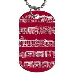 City Building Red Dog Tag (two Sides)