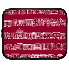 City Building Red Netbook Case (xl)