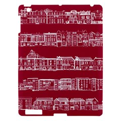 City Building Red Apple Ipad 3/4 Hardshell Case by AnjaniArt