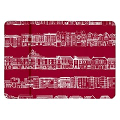 City Building Red Samsung Galaxy Tab 8 9  P7300 Flip Case