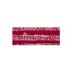City Building Red Satin Scarf (oblong) by AnjaniArt