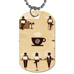 Coffee Ofice Work Commmerce Dog Tag (two Sides) by AnjaniArt