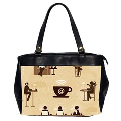 Coffee Ofice Work Commmerce Office Handbags (2 Sides)  by AnjaniArt