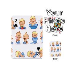 Cute Baby Picture Funny Playing Cards 54 (mini)  by AnjaniArt