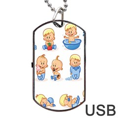 Cute Baby Picture Funny Dog Tag Usb Flash (one Side) by AnjaniArt