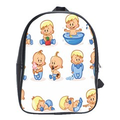 Cute Baby Picture Funny School Bags (xl)