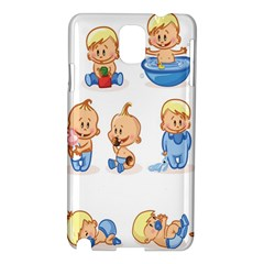 Cute Baby Picture Funny Samsung Galaxy Note 3 N9005 Hardshell Case by AnjaniArt